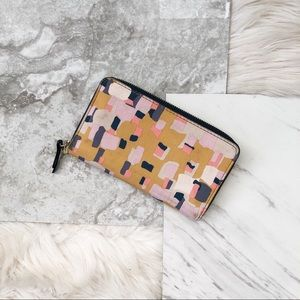 Fossil | Patterned Zip Around Wallet
